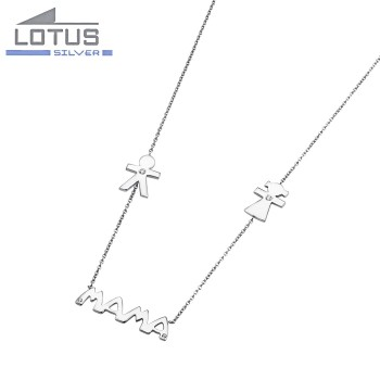 COLLAR LOTUS SILVER MOTHER'S LOVE